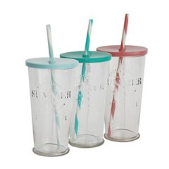 Vaso  summer  mediano con tapa y sorbete de color 500 ml en internet