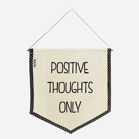 Banderín POSITIVE THOUGHTS - comprar online