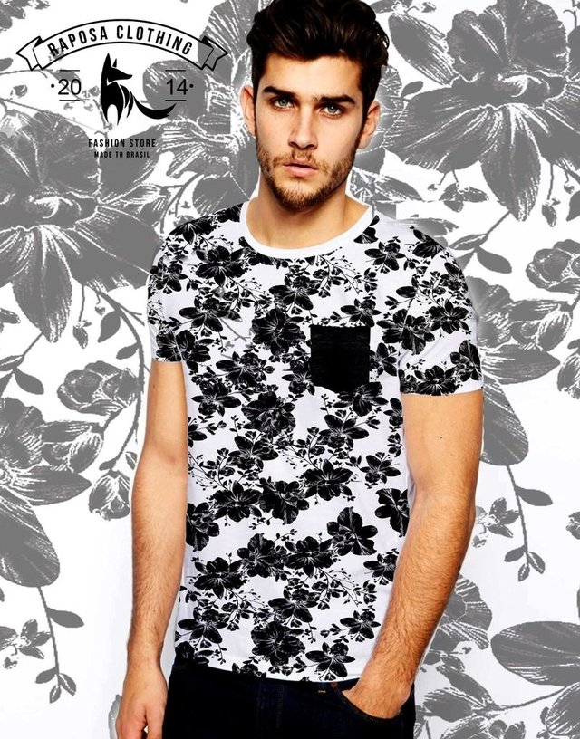 Tshirt Floral pocket
