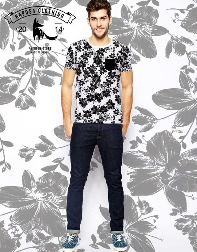 Tshirt Floral pocket na internet