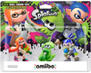 Amiibo Splatoon - Pack Girl / Squid / Boy