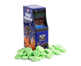 Space Invaders Sour Apple Alien Candies