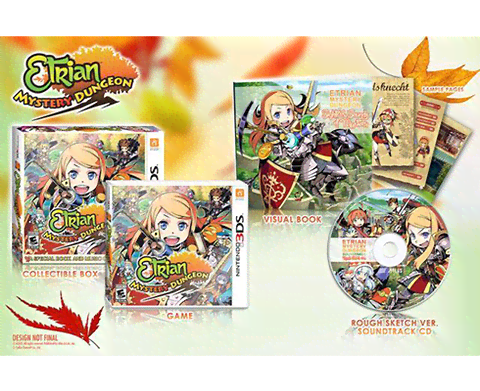 Etrian Mystery Dungeon Special Book and Music CD included