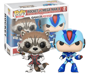 Funko Pop Games: Marvel Capcom-Rocket Raccoon Vs Megaman Collectible Figure