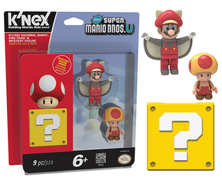 KNEX Mystery Figure - Flying Squirrel Mario, Fire Toad & Mystery Figure (3 Figuras)