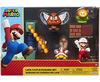 "SUPER MARIO Nintendo Lava Castle 2.5"" Figure Diorama Play Set, Includes: Fire Mario, Spiny, & para Goomba, Mechanical Spinning Fireballs, Block & Fire Flower"