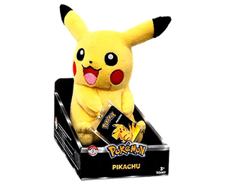 Plush Pokemon Trainer PIKACHU 21cm