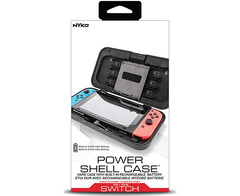 Nyko Power Shell Case - Hard protective case with built-in 5,000 mAh rechargeable battery, integrated play and charge cord, kickstand and game/SD Card storage