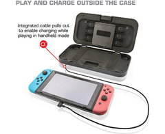 Imagen de Nyko Power Shell Case - Hard protective case with built-in 5,000 mAh rechargeable battery, integrated play and charge cord, kickstand and game/SD Card storage