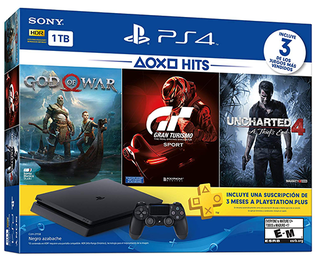 PlayStation 4 - 1TB - PS4 Hits Console Bundle includes God Of War, GT Sport, Uncharted 4