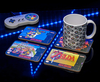 SNES Coasters Set Featuring Zelda - Super Mario World - Super Mario Kart - Super Metroid - Officially Licensed Nintendo Product (Posavasos)
