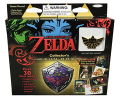 The Legend Of Zelda Collector's Trading Cards Fun Box - 4 packs of 6 cards each / Poster / Foil Card / Collector Pin / Gold Foil & More! en internet