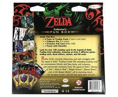The Legend Of Zelda Collector's Trading Cards Fun Box - 4 packs of 6 cards each / Poster / Foil Card / Collector Pin / Gold Foil & More! - comprar online