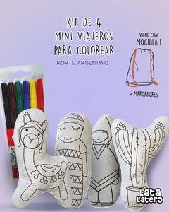 SET 4 MINI VIAJEROS DEL NORTE PARA COLOREAR