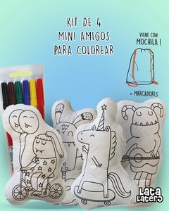 SET 4 MINI AMIGOS PARA COLOREAR.  UNICORNIOS