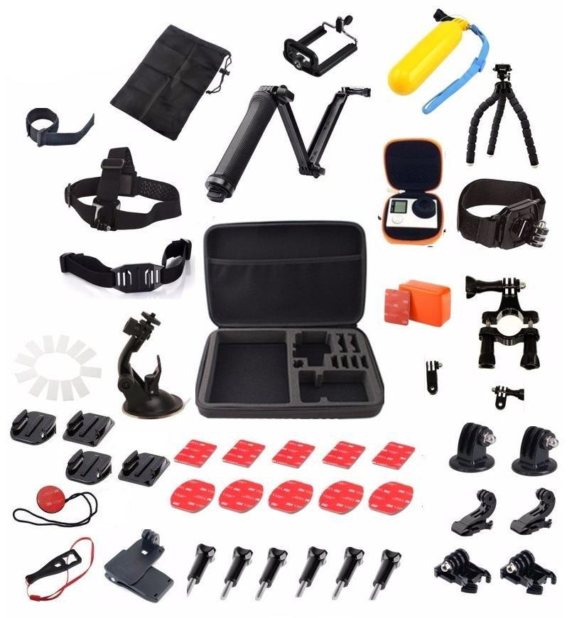 Kit Full Maletin Grande Accesorios para GoPro x 44pcs