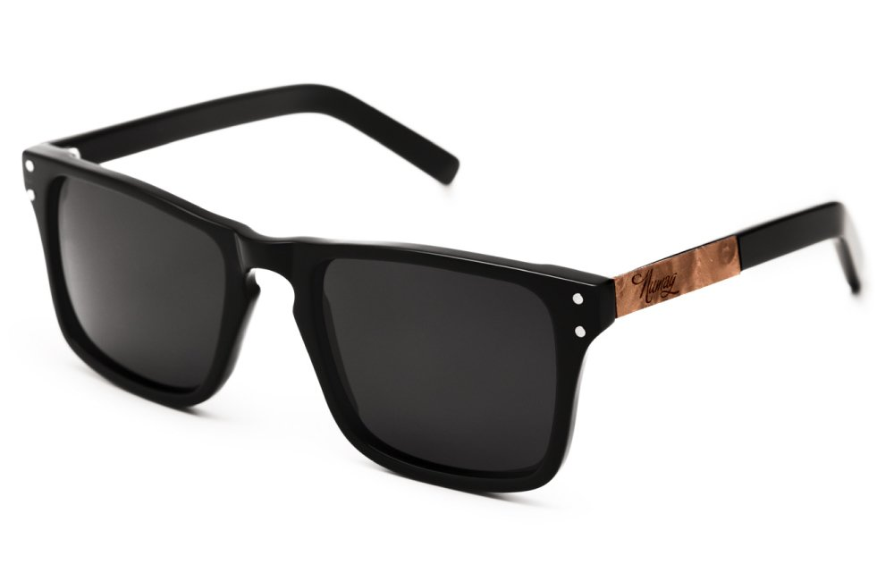 Wood sunglasses - Numag - Noah Black Two Tone - Madrona