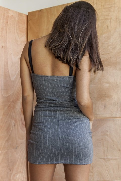 Vestido Shelby [gris] - MadnessClothing