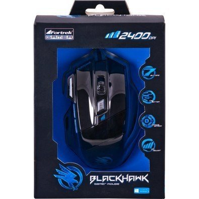 Mouse Gamer Óptico USB Black Hawk OM703 52013 Fortrek na internet
