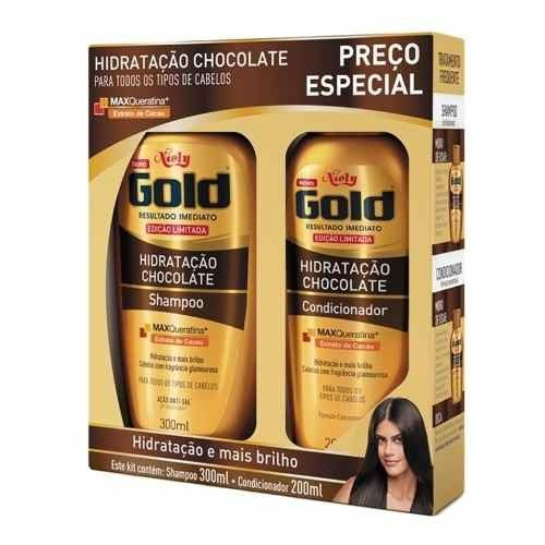 Kit Shampoo 300 Ml + Condicionador 200 Ml Niely Gold Hidrata