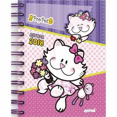 Agenda Diária Mini Pop Pet 2018 07361 Spiral Pt 1 Un