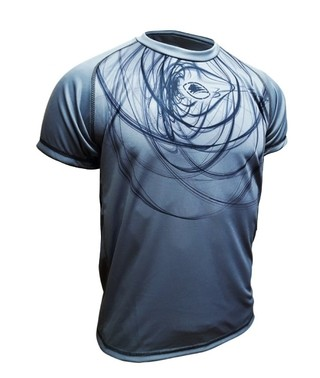 Remera Running Fast Silver
