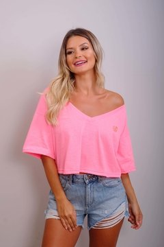 Cropped Édem MD Pink Neon na internet
