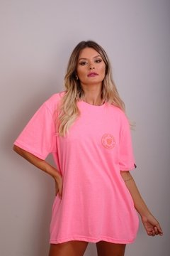 Camiseta Édem Patch Neon Pink