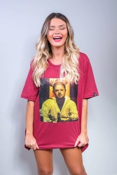 Camiseta Édem Breaking Bad Jesse Mask Vinho