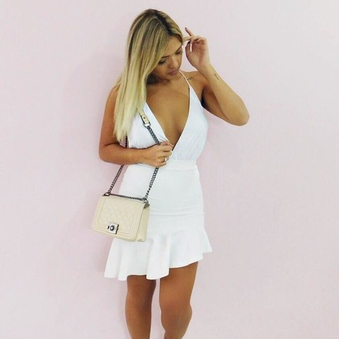 Saia Midi Vitoriana Off White