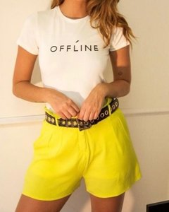 Shorts Neon Clochard Moda Feminina