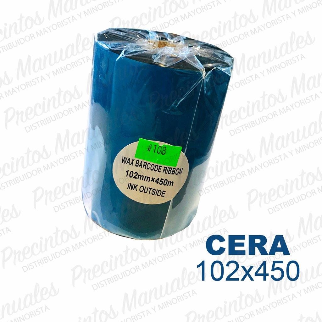 Ribbon Cera 102x450 Negro (TDW108) Out Para Papel
