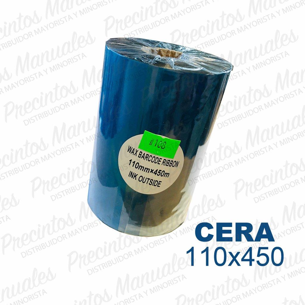 Ribbon Cera 110x450 Negro (TDW108) Out Para Papel