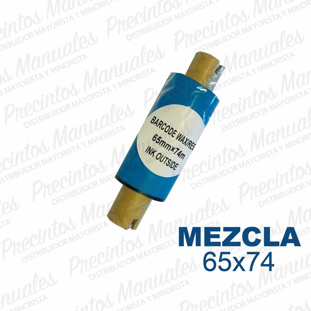 Ribbon Mezcla (Cera/Resina) 65x74 Negro (TDM200) Out Para Papel · Opp · Poliamida