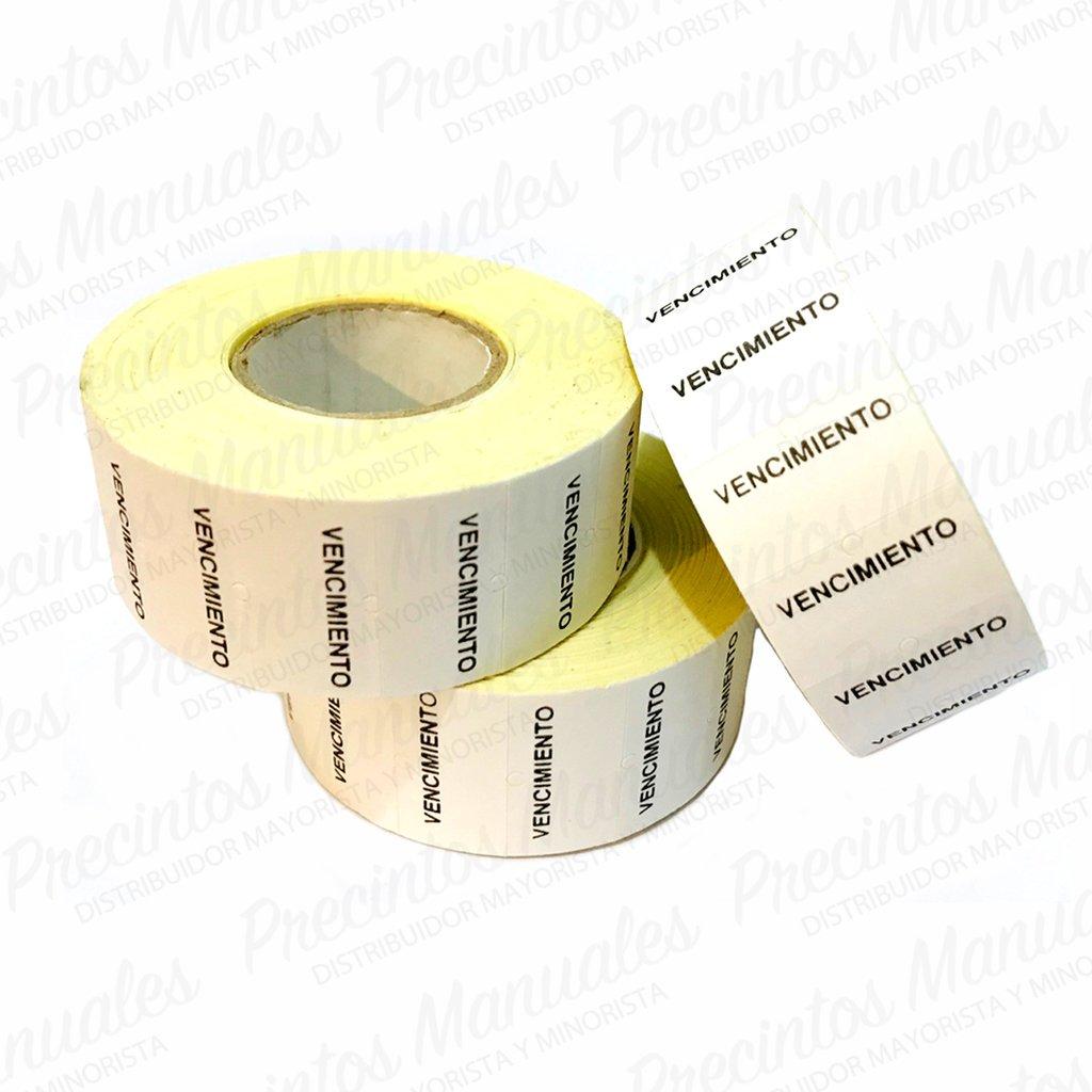 Rollos Etiquetas Vencimiento x10 · (8 Digitos) Mx-5500 / Mx-808 / Jolly JH8