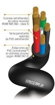 Cable Tipo Taller 10x1 X Mt Argenplas - comprar online