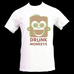 Playera Camiseta Mono Borracho Drunk Monkeys Bebedor