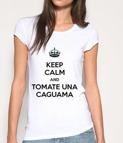 Playera Keep Calm Tomate Una Caguama
