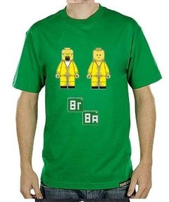 Playera Camiseta Breaking Bad Walt Y Jesse Lego Meta Receta
