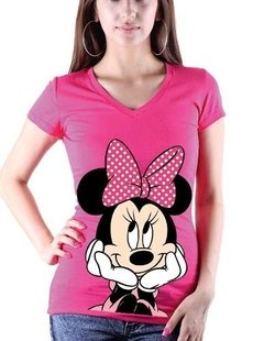 Playera O Blusa Minnie Mouse Cara Disney Mickey Nueva
