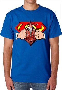 Playeras Superman Pecho Con Spiderman Abriendo Camisa - Jinx