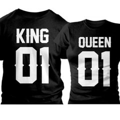 2 Playeras Para Pareja *king Queen* Rey Reyna Cab Y Dama