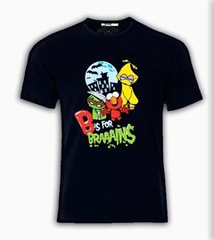 Playera Plaza Sesamo + Cerebros + Zombies Elmo Avelardo