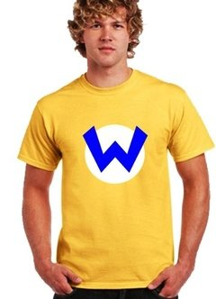 Playera Warrio Logo Amarillo Mario Bross Enemigo Mortal!!