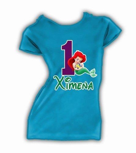 entrega gratis ventas al por mayor nueva selección Playera Sirenita Little Mermaid Personalizadas Fiesta