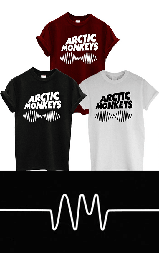 Playera ARTIC MONKEYS disp. en sudadera - comprar online