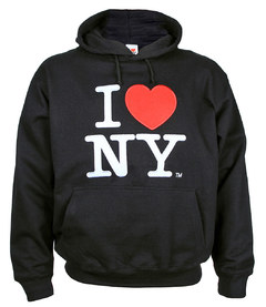 Sudadera negra i love new york