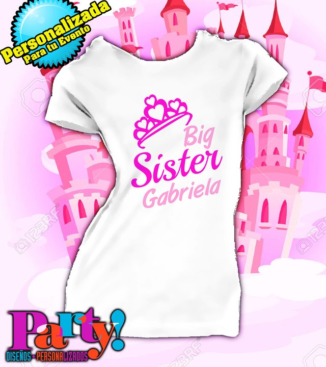 Playera Personalizada Little Sister , Mom & Dad