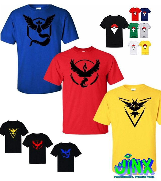 Playera o Camiseta Pokemon Team