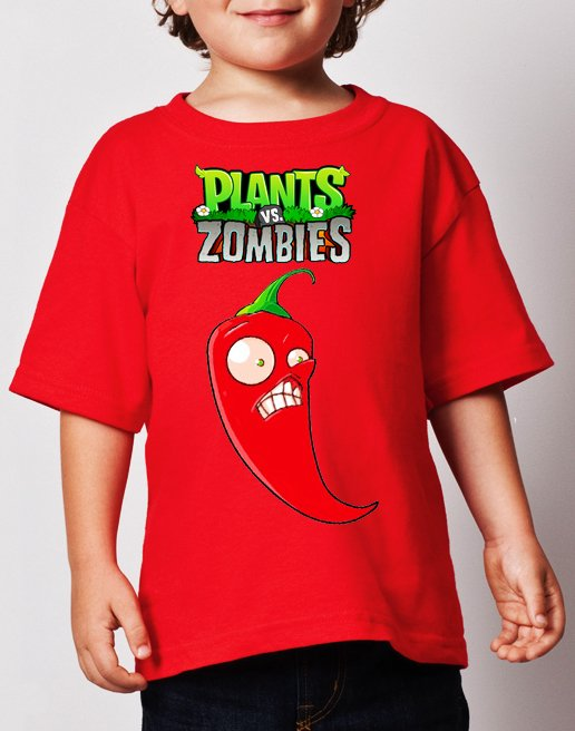 playera camiseta plantas zombies